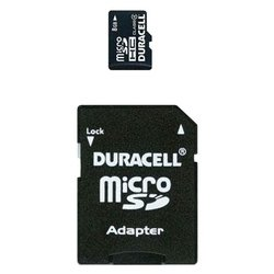 duracell microsdhc class 4 8gb + sd adapter