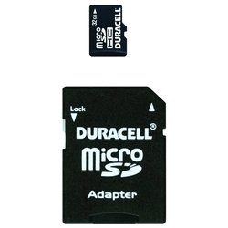 duracell microsdhc class 4 32gb + sd adapter