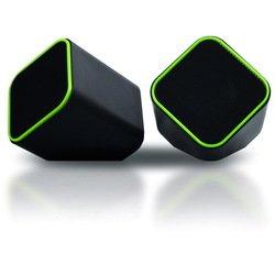 Мультимедийные стерео колонки SmartBuy CUTE (SBA-2580) (черно-зеленый)