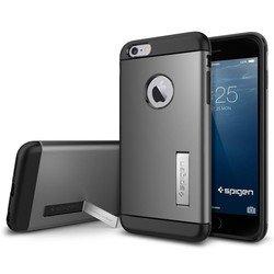 """Чехол-накладка для Apple iPhone 6 Plus, 6s Plus 5.5"""" (Spigen Slim Armor Series SGP10905) (стальной)"""