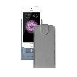 """Универсальный чехол-флип для смартфонов 3.5-4.3"""" (Deppa Flip Cover S 81030) (серый)"""