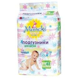 Maneki подгузники Fantasy M (6-11 кг) 62 шт.