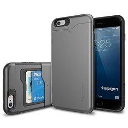 """Чехол-накладка для Apple iPhone 6 plus, 6s Plus 5.5"""" (Spigen Slim Armor CS SGP10910) (стальной)"""
