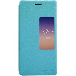чехол-книжка для huawei ascend p7 (nillkin sparkle leather case) (голубой)
