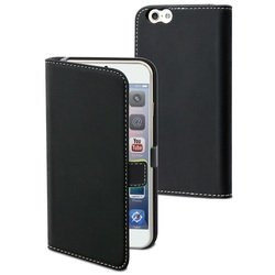 чехол-книжка для apple iphone 6 (muvit smooth folio slim case musli0561) (черный)