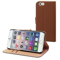 Чехол-книжка для Apple iPhone 6, 6s (Muvit Wallet Folio Stand Case MUSNS0072) (коричневый)