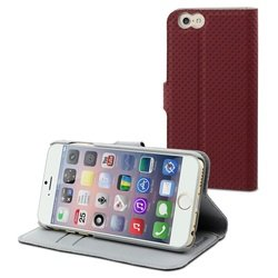 чехол-книжка для apple iphone 6 (muvit wallet folio stand case musns0070) (красный)