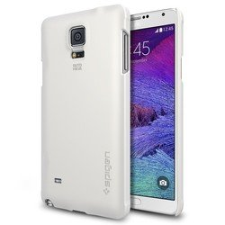 клип-кейс для samsung galaxy note 4 spigen thin fit series (sgp11110) (белый)