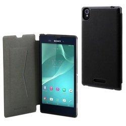 Чехол-книжка для Sony Xperia T3 (Muvit Ultra Slim Folio Case SESLI0121) (черный)