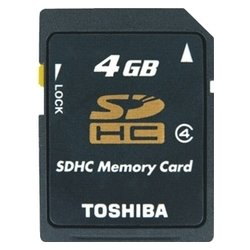 Toshiba SDHC класс 4, 4 ГБ SD-K04GJ (BL5)