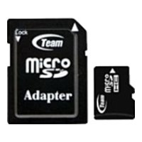 team group micro sdhc card class 10 16gb + sd adapter