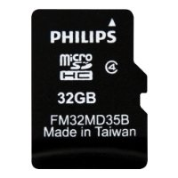 philips microsdhc class 4 32gb + sd adapter