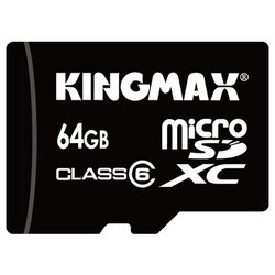 kingmax micro sdxc card class 6 64gb + sd adapter