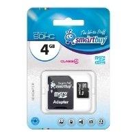SmartBuy microSDHC Class 4 4GB + SD adapter