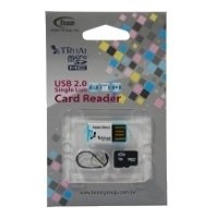 team group micro sdhc card class 10 32gb + tr11a1 card reader