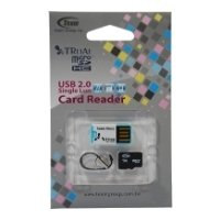 team group micro sdhc card class 4 4gb + tr11a1 card reader