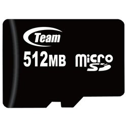 team group micro sd 512mb + 2 adapters