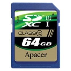 apacer sdxc uhs-1 class 10 64gb