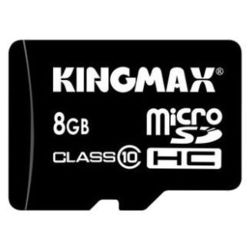kingmax microsdhc class 10 card 8gb + sd adapter