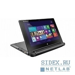 "ноутбук lenovo ideapad flex10 celeron n2830 [59425441] (2.16), 4g, 320g, 10.1""hd ag touch, int:intel hd, bt, win8.1 (black)"