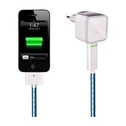 Сетевое зарядное устройство для Apple iPad/iPhone/iPod Dexim Visible Green (DCA256C-W) (белый)