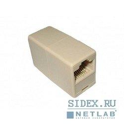 Переходник RJ-45 - RJ-45 проходной, кат. 5e (VCOM VTE7713) (10 шт.)