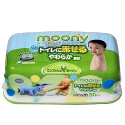 Детские влажные салфетки гигиенические в контейнере (Moony 4903111-244867) (50 шт)