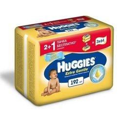Детские влажные салфетки (HUGGIES EXTRA GENTLE 2398573) (3х64шт)