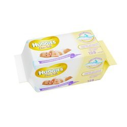 Детские влажные салфетки (HUGGIES ELITE SOFT 2398292) (сменный блок 2*64 шт)