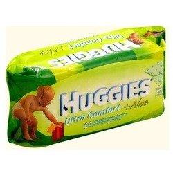 Детские влажные салфетки (HUGGIES Ultra Comfort+ALOE 2398590) (64 шт)