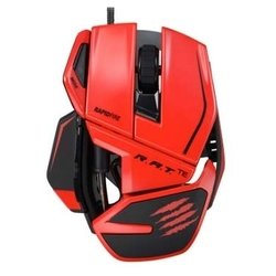 mad catz r.a.t. te gaming mouse for pc and mac red usb