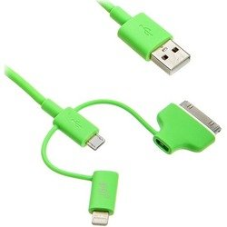 ����-������ lightning/microusb/30 pin - usb ��� apple iphone 2, 3g, 3gs, 4, 4s, iphone 5, 5c, 5s, 6, 6 plus, ipad 4, air, air 2, mini 1, mini 2, mini 3  pqi i-cable multi-plug (�������)