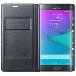 чехол-книжка для samsung galaxy note edge n915 (flip wallet ef-wn915bcegru) (черный)