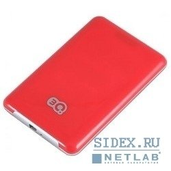 "носитель информации 3q portable hdd 500gb,  red,  hairline,  2.5"" sata hdd 5400rpm inside, usb2.0,  rtl,  3qhdd-u247h-hr500"