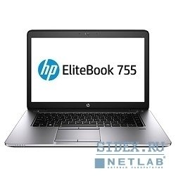 "hp elitebook 755 g2 j0x38aw 15.6""(1366x768 (матовый)),  a10 pro 7350b(ghz), 4096mb, 500gb, nodvd, int:amd radeon r5, cam, bt, wifi, 50whr, war 3y, 2kg, silver, black metal, w7pro + w8pro key"