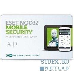 �� Eset NOD32 Mobile Security 3��, 1 ��� (NOD32-ENM2-NS(CARD)-1-1)