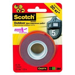 Клейкая лента 3M 7100010494 Scotch монтажная для наружных работ2,5х150cm 411Р-RU