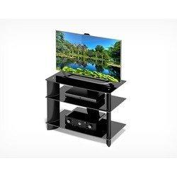 Стол под ТВ (Holder TV-1585/1) (черный + тонированное стекло)