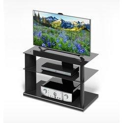 Подставка под TV (Holder TV-2680) (черный+черное стекло)