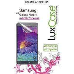 защитная пленка для samsung galaxy note 4 (luxcase) (суперпрозрачная)