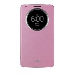 чехол-книжка для lg g3 d855 (ccf-345g.agrapk quick window) (розовый)