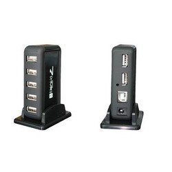 USB HUB Orient KE-700NP (черный)