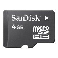 Sandisk microSDHC Card Class 4 4GB + SD adapter (SDSDQM-004G-B35A)