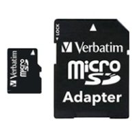 verbatim microsdhc class 4 card 16gb + sd adapter