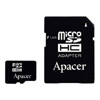 Apacer microSDHC Card Class 4 8GB + SD adapter