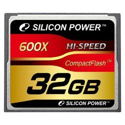 silicon power 600x professional compact flash card 32gb (sp032gbcfc600v10)