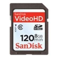sandisk video hd sdhc class 6 8gb (sdsdx-008g-x46)