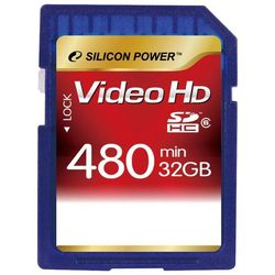 silicon power sdhc class 6 video hd 32gb