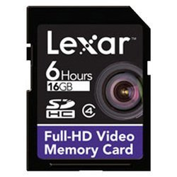 lexar sdhc full-hd video memory card 16gb