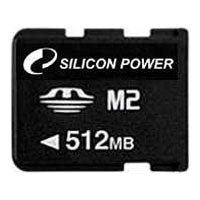 silicon power memorystick micro m2 512mb